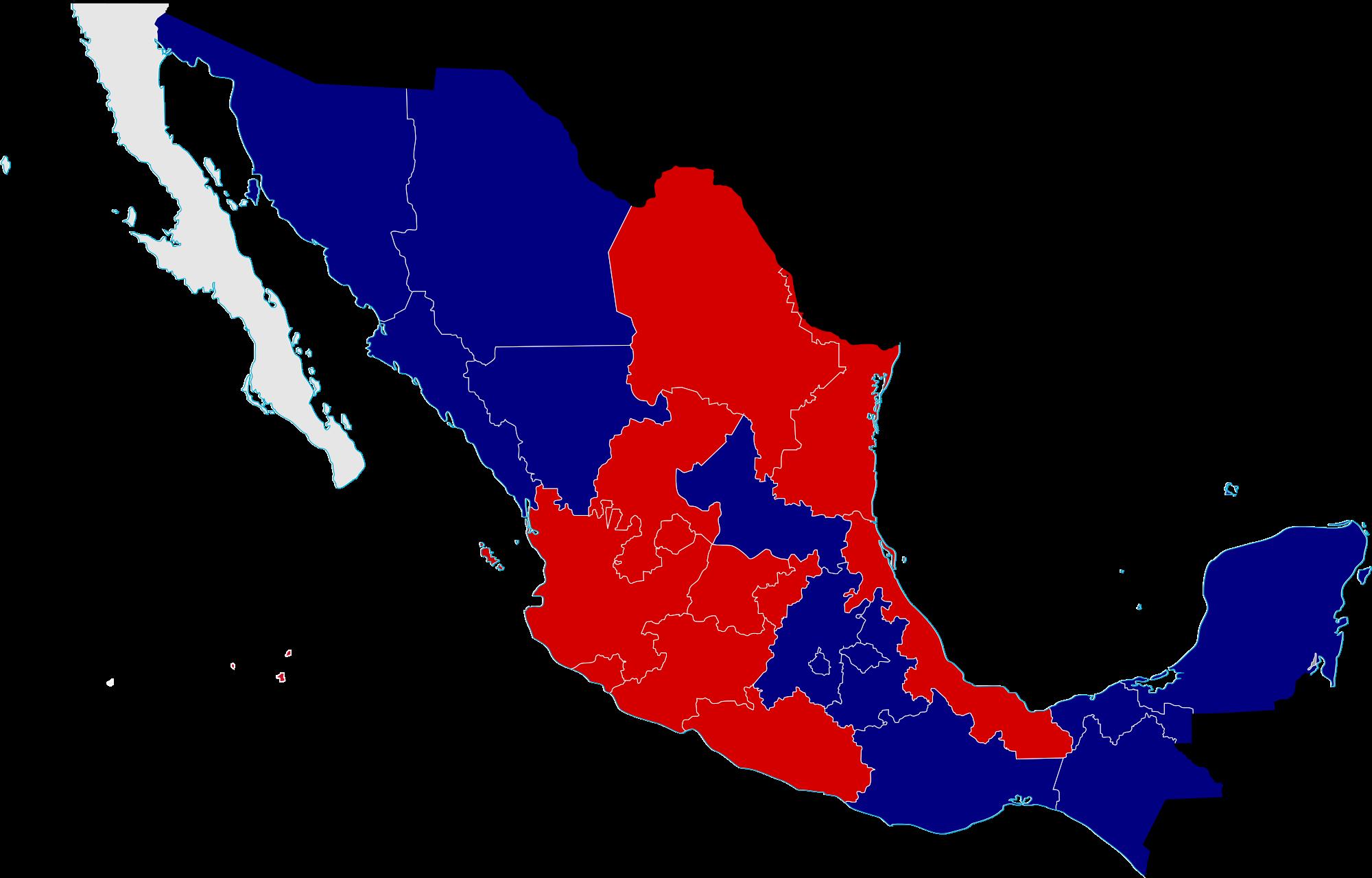 Mexico clipart map. File civil war divisions