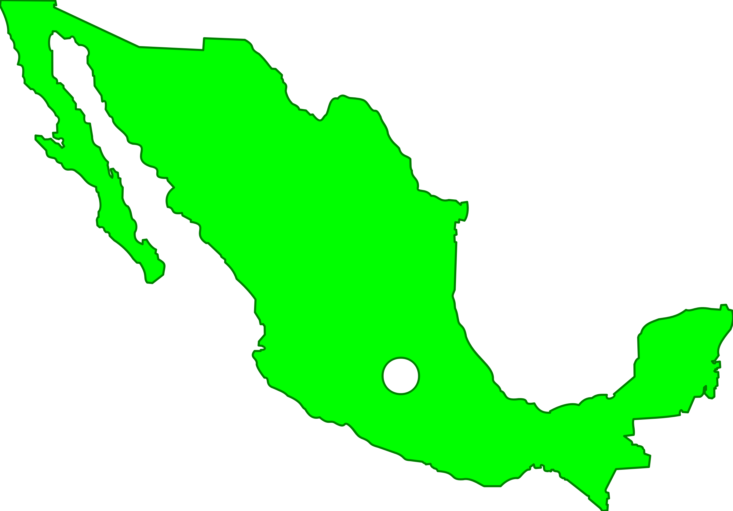 Mexico clipart map. Big image png