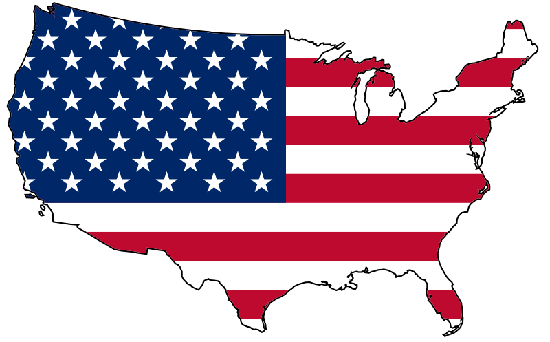 The usa mind. Clipart map map road us