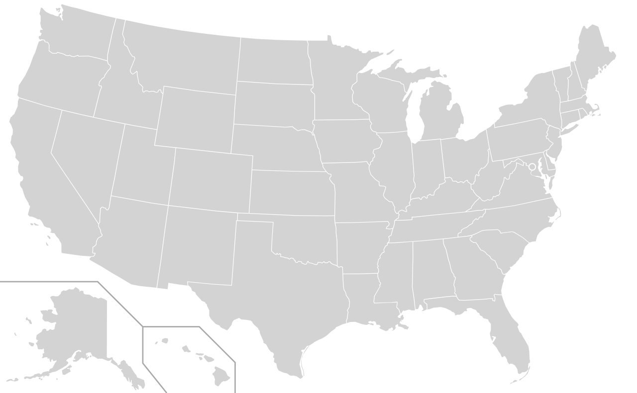 File blank states only. Clipart map map road us