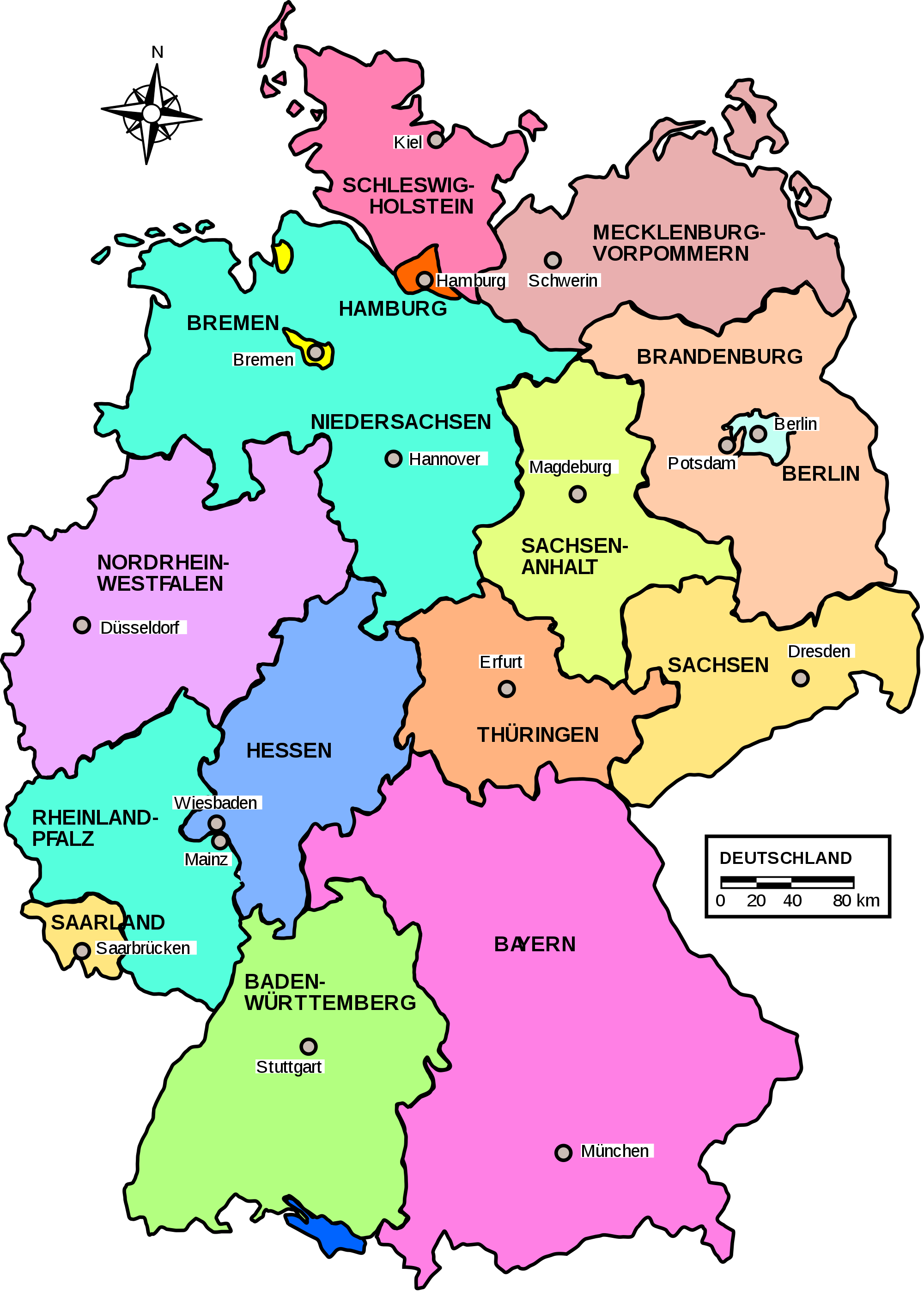 File germany l nder. Maps clipart map work