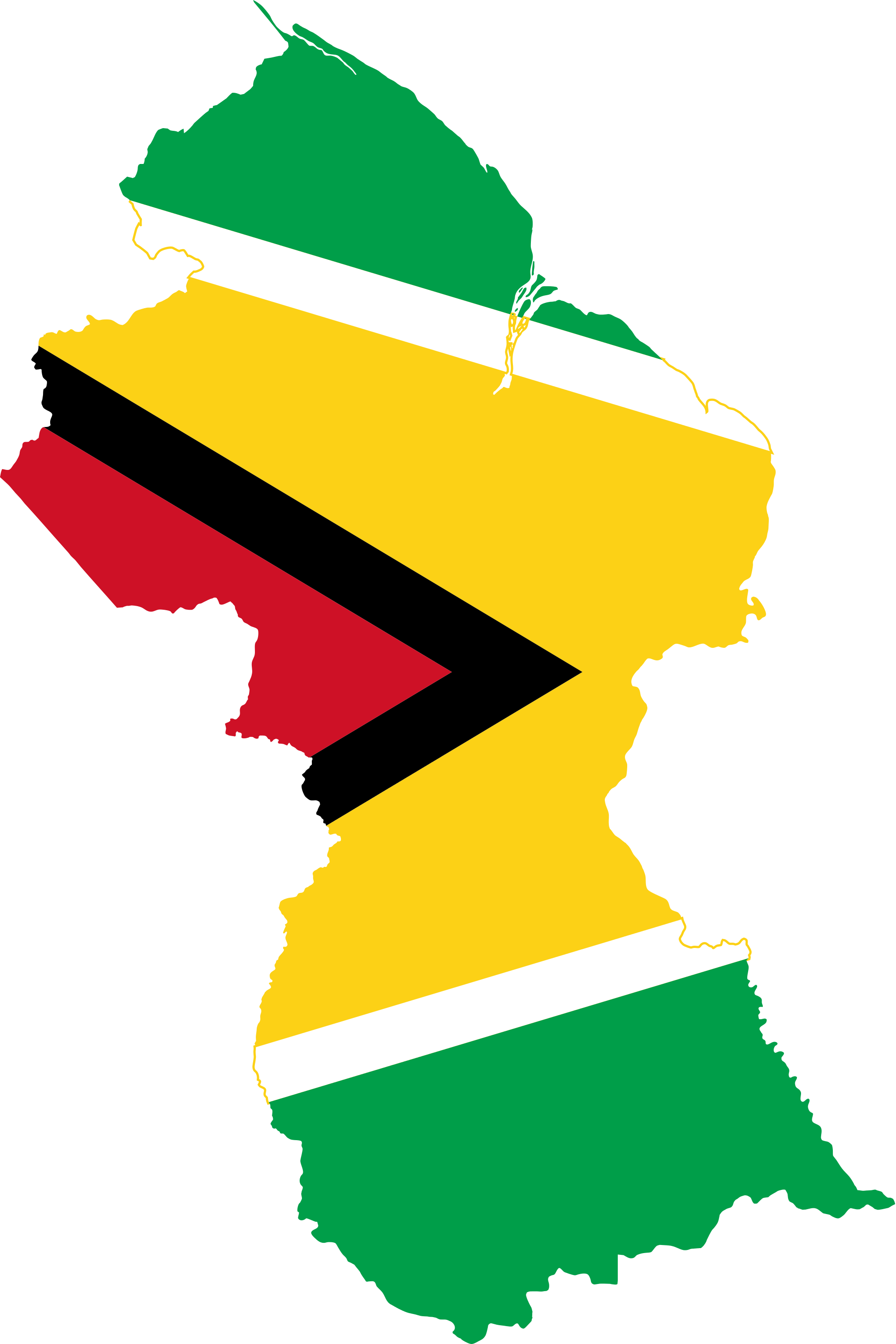 File flag of guyana. Clipart map map work