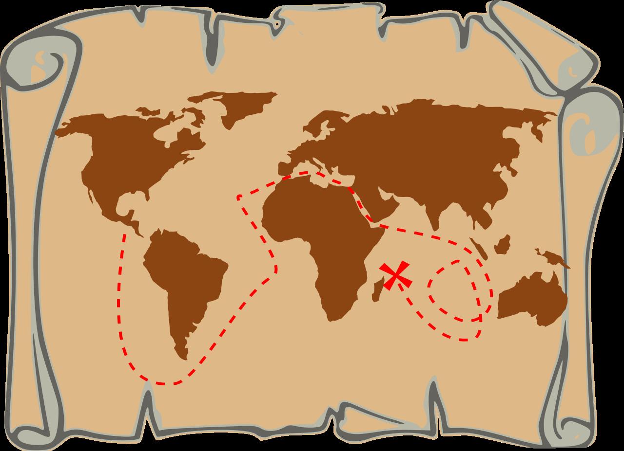 Clipart reading maps. File treasure map svg