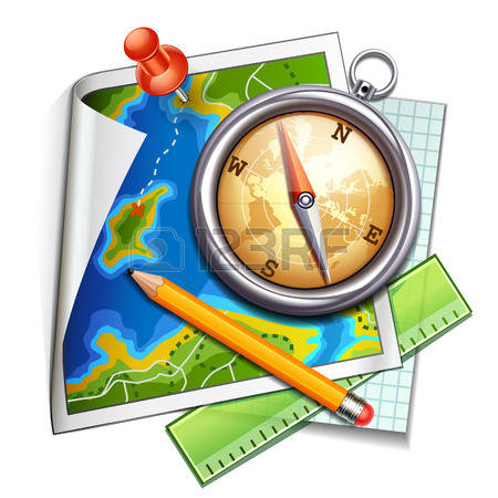 Maps clipart navigation. Map compass free download