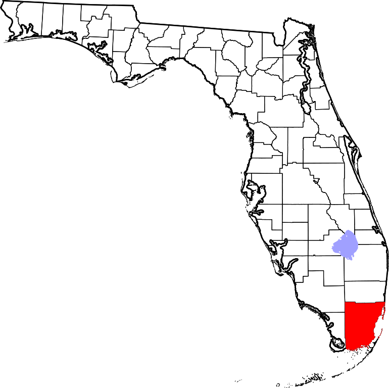 Map of highlighting miami. Florida clipart file
