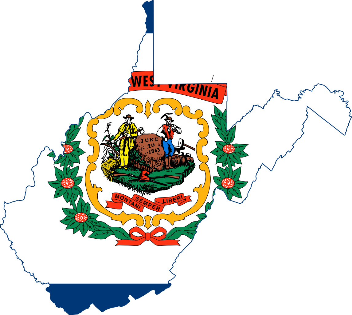 File flag of west. Clipart map nearby