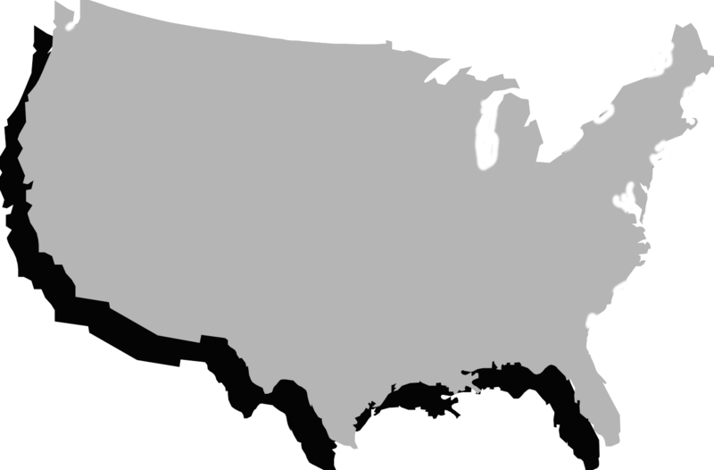 Clipart map ocean map. What u s state
