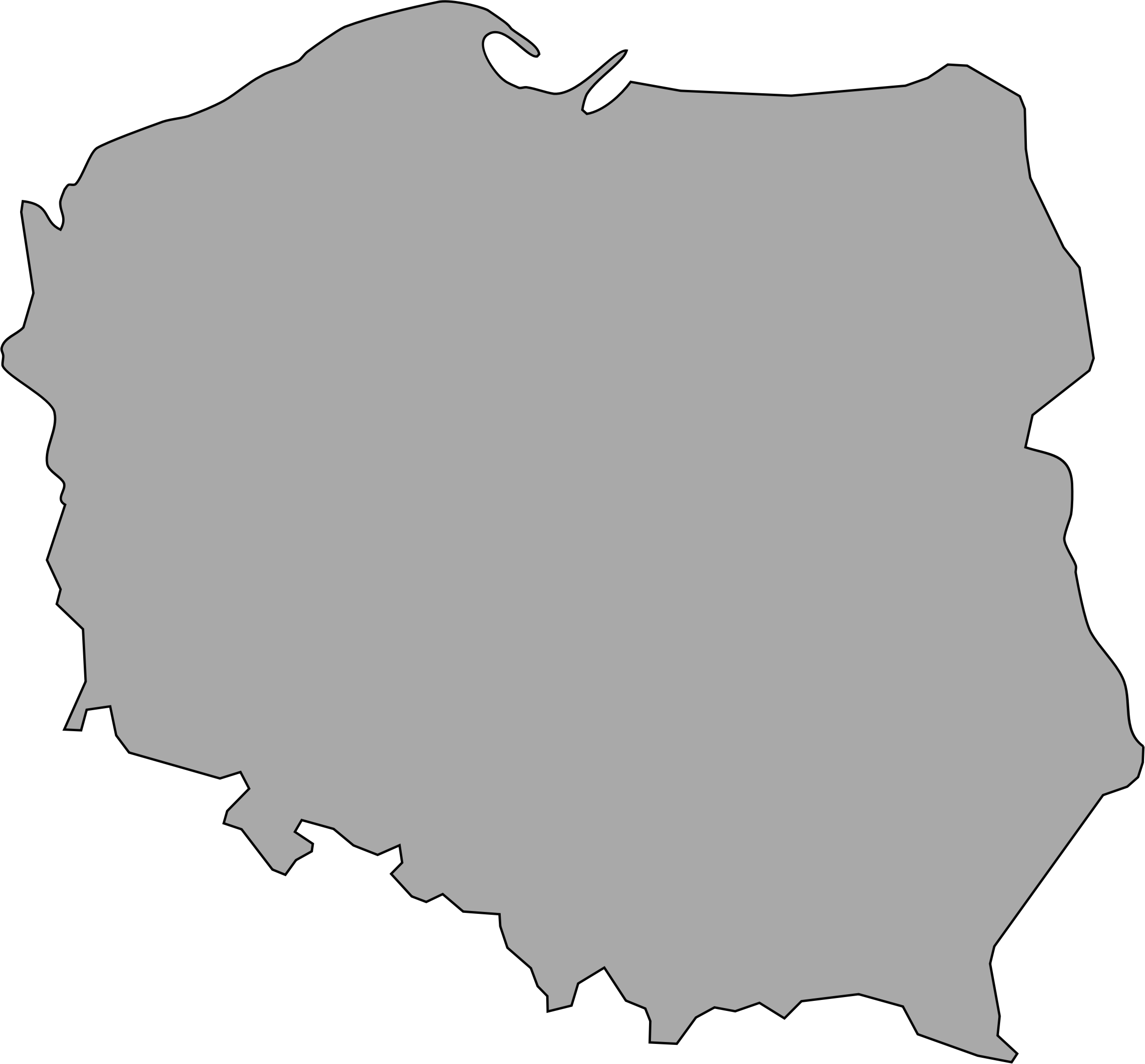 Clipart map old. Of poland big image