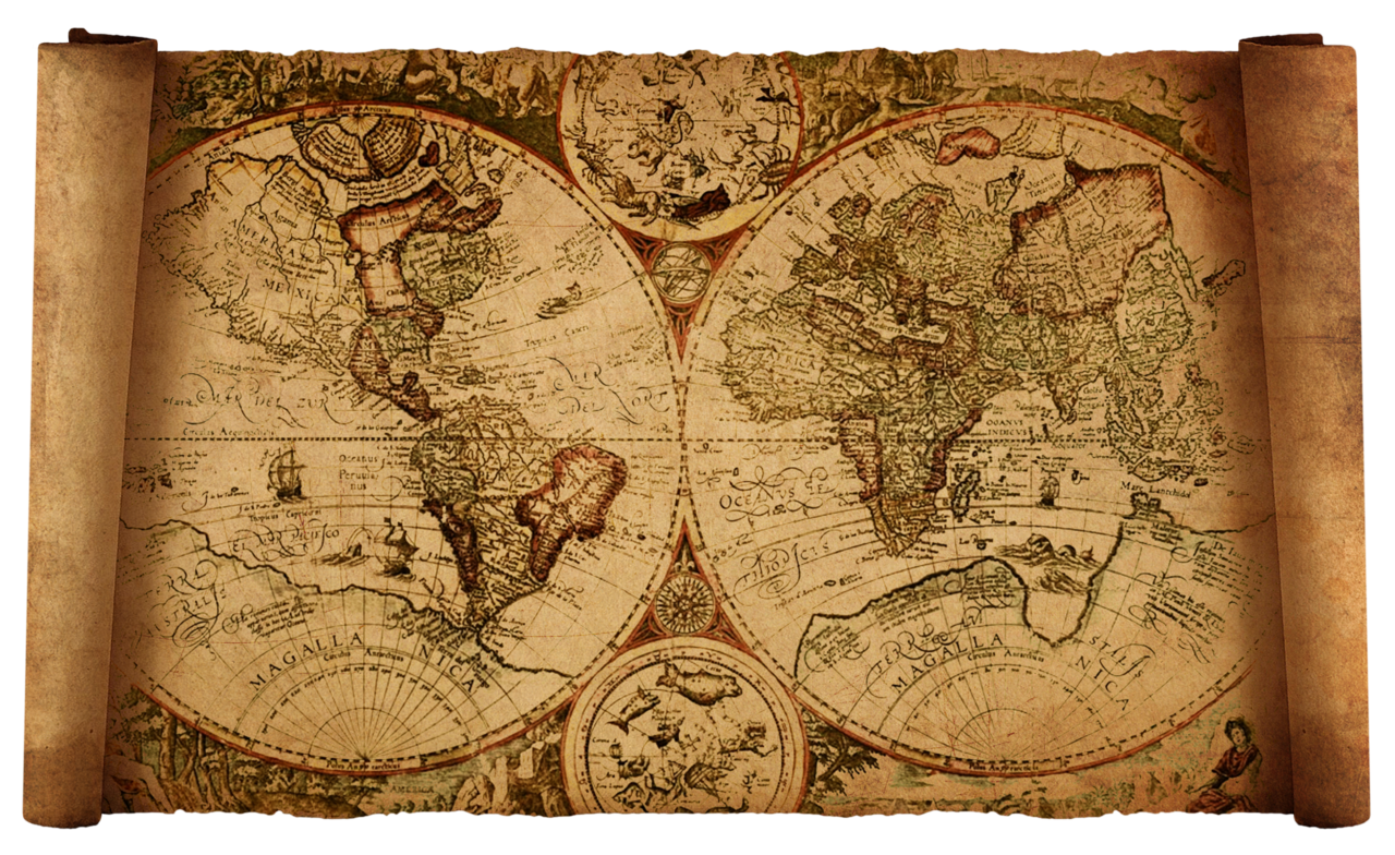 Vintage maps world by. Clipart map old
