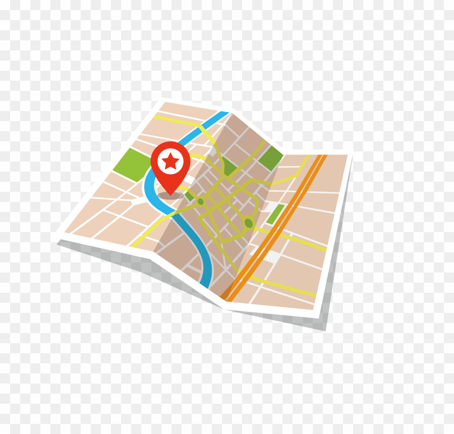 City png las rozas. Clipart map paper