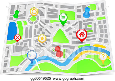Eps illustration vector gg. Clipart map paper