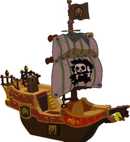 Wheel clipart pirate boat. Ship clip art at