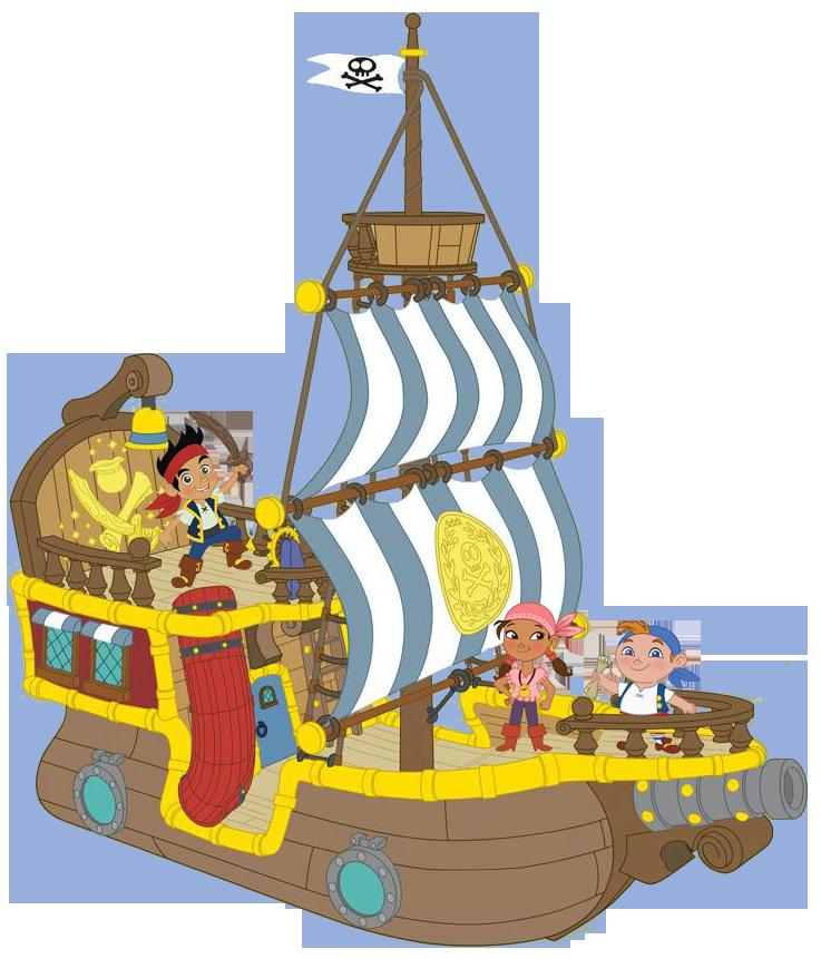Jake the never pirates. Island clipart land sea
