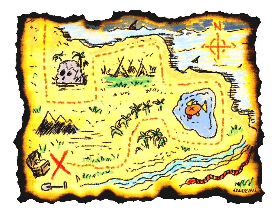Adventure treasure maps for. Clipart map printable