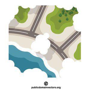 Clipart map public domain. Aerial vector clip art