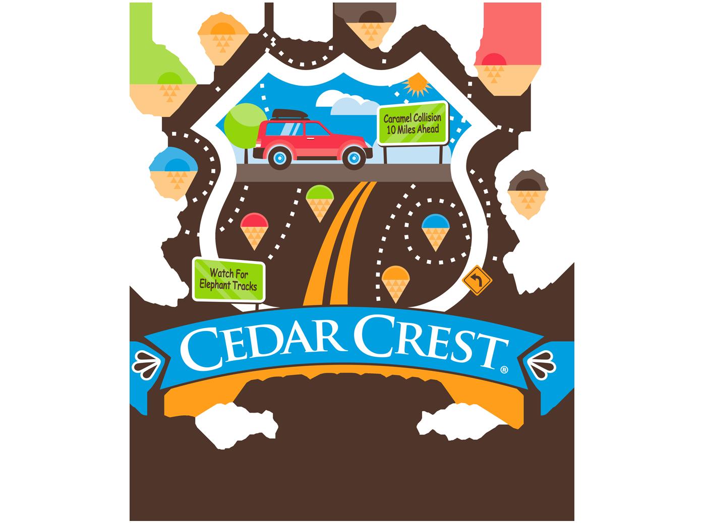 Parlor cedar crest ice. Clipart road road trip
