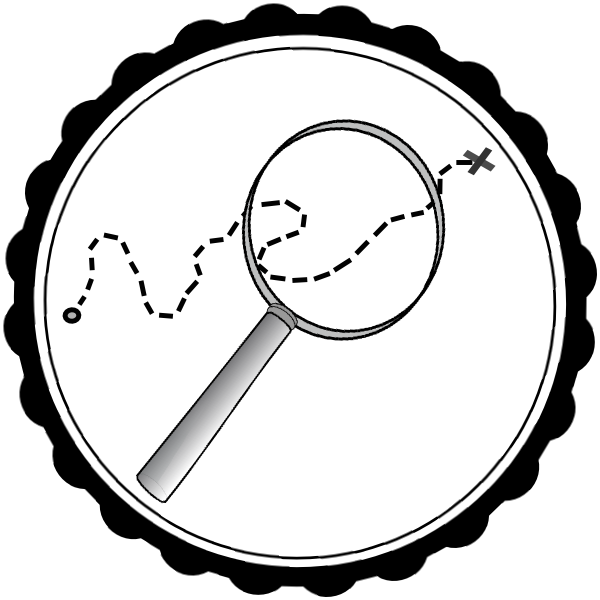 Scavenger hunt clip art. Treasure clipart black and white