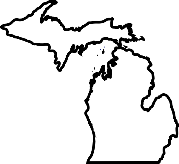 Michigan thick outline clip. Clipart map simple