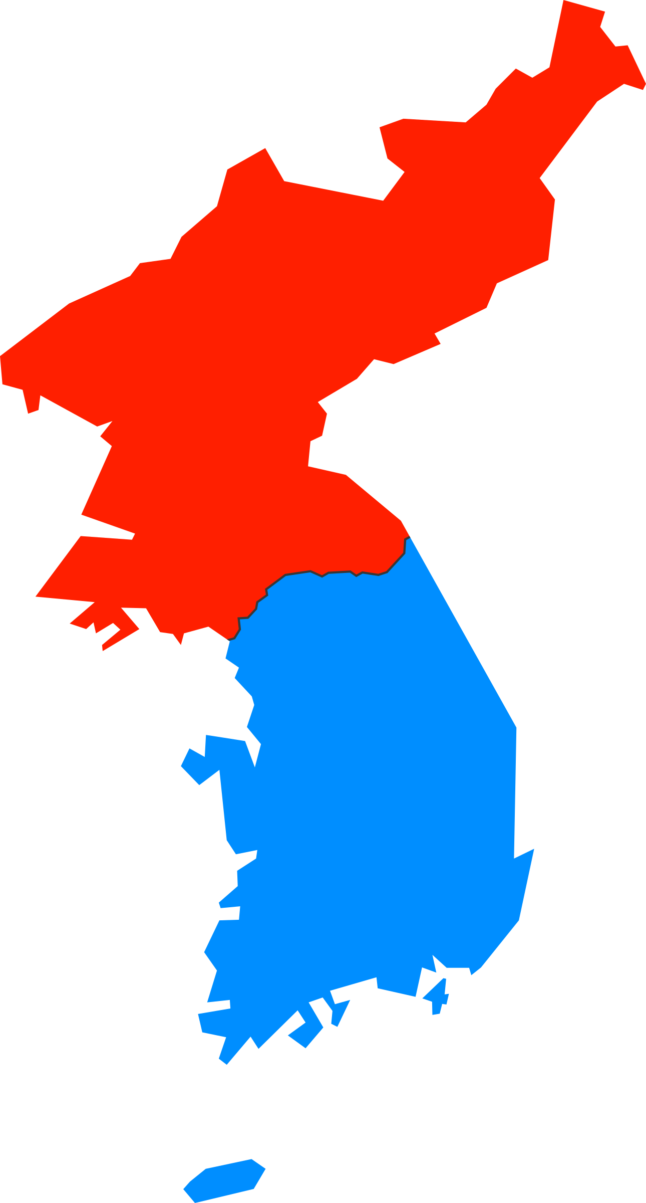 Clipart map simple. North and south korea