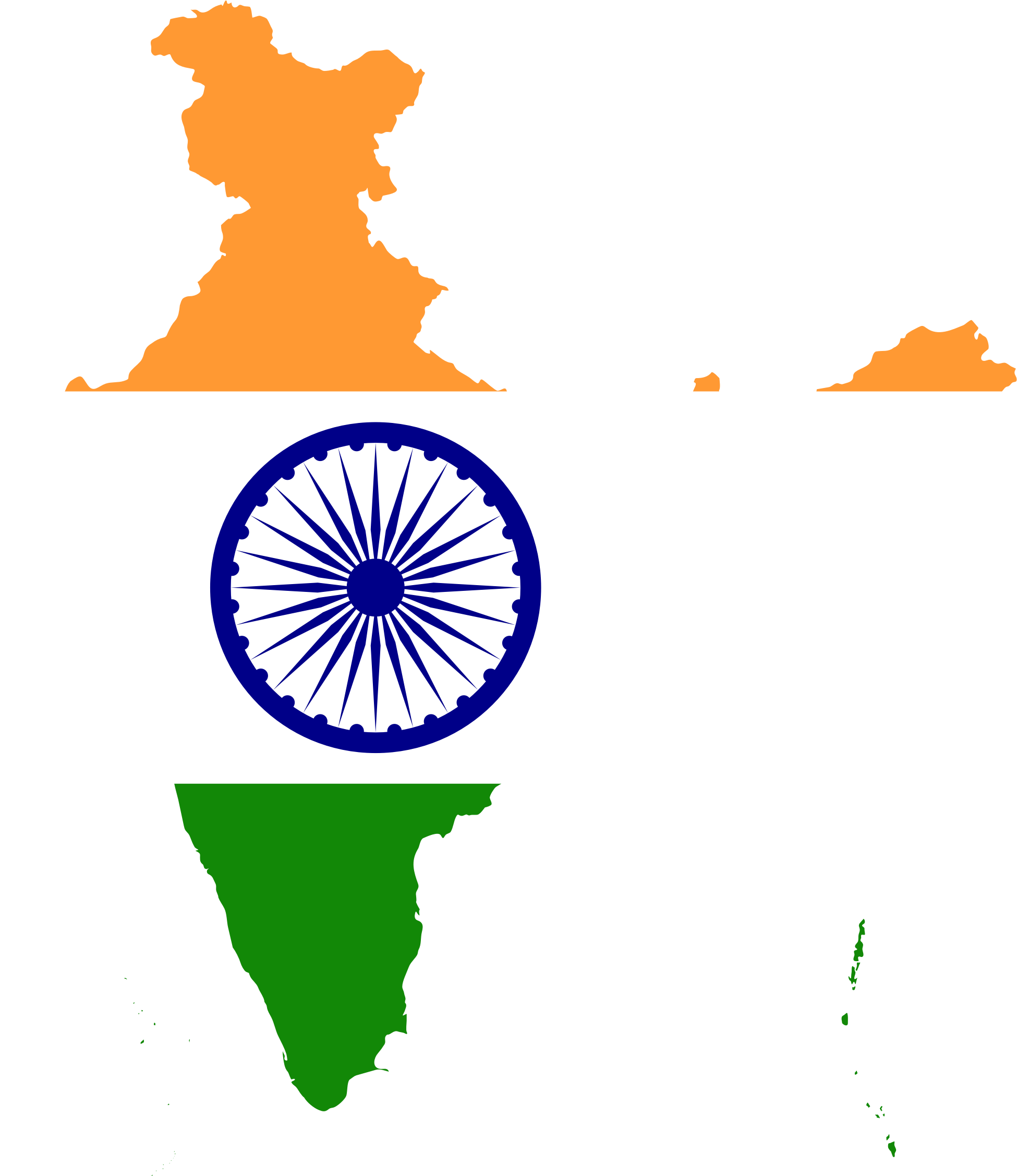 Clipart map simple. India flag big image