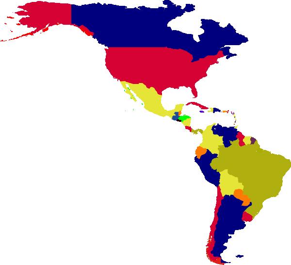 Clipart map simple. Latin america clip art