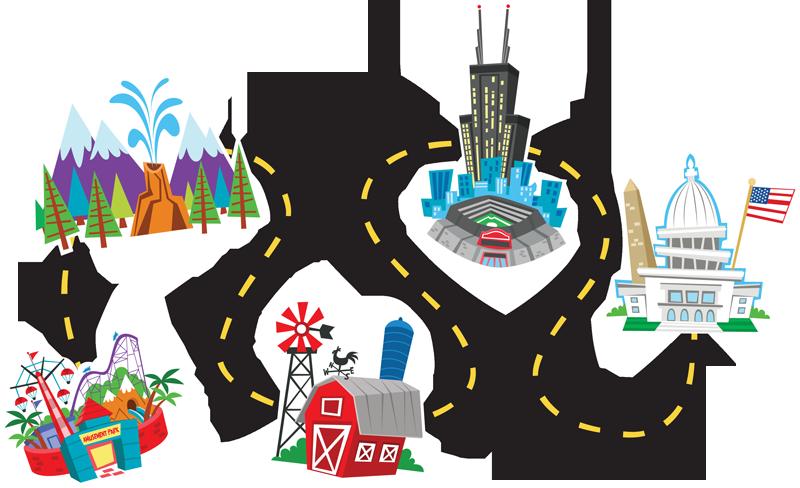 Clipart map simple. Road clip art image