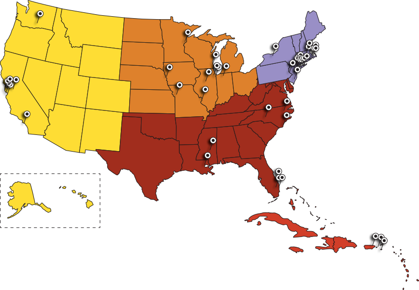 Clipart map sst. National gunfire index march