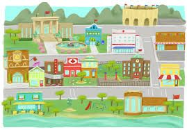 Image result for my. Neighborhood clipart little town