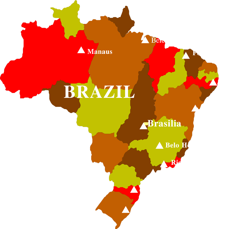 Brazil free stock photo. Clipart map transparent