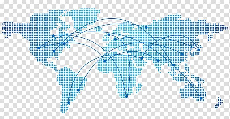 World illustration dot distribution. Clipart map transparent