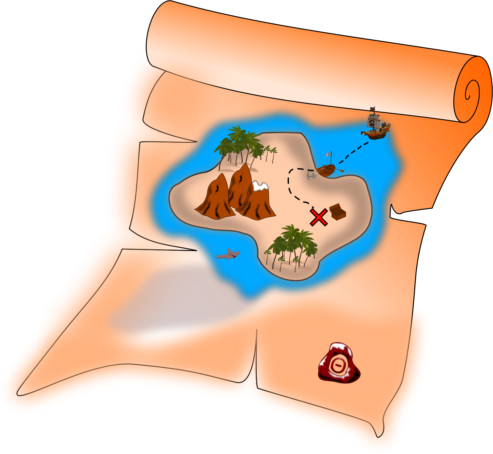 Map big image png. Treasure clipart tresure