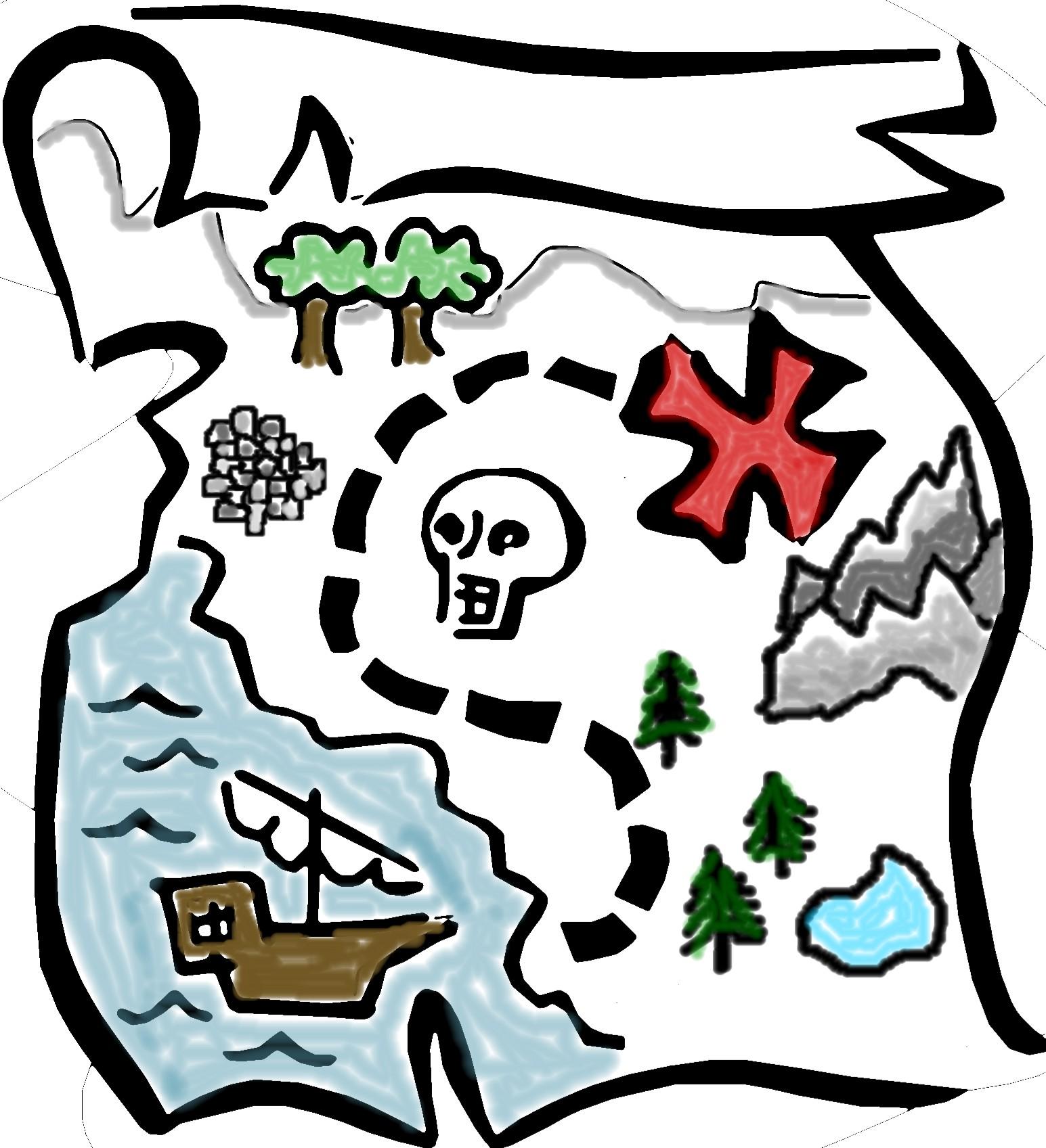 Compass clipart treasure hunt. Free map download clip