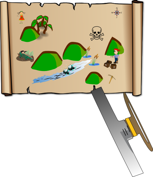 Clip art at clker. Treasure clipart treasure map