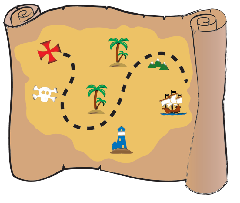 Buried piracy clip art. Treasure clipart treasure map