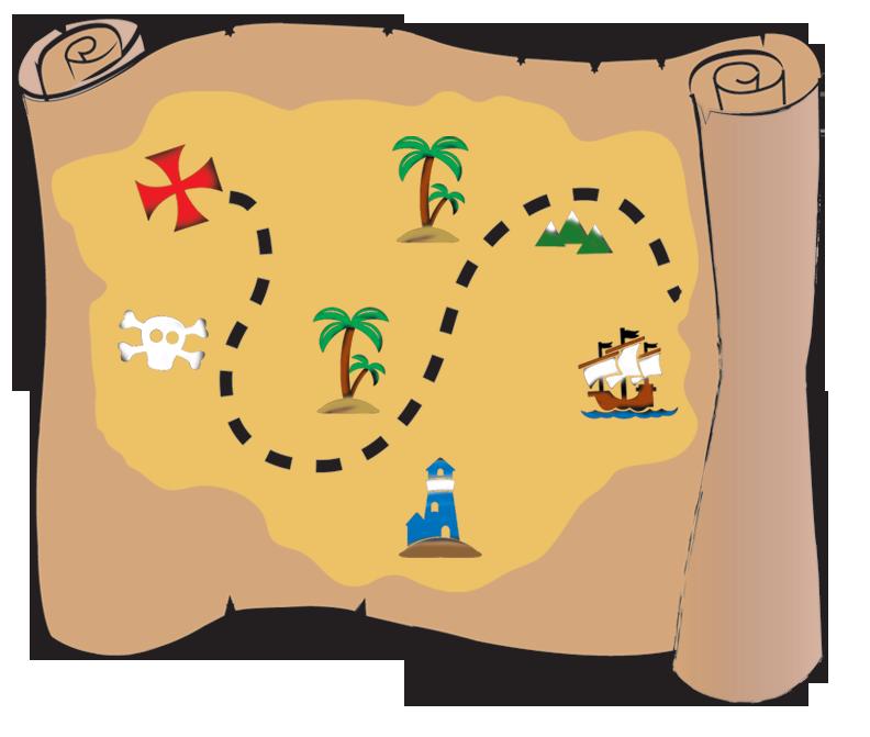 Buried piracy clip art. Clipart map treasure hunt