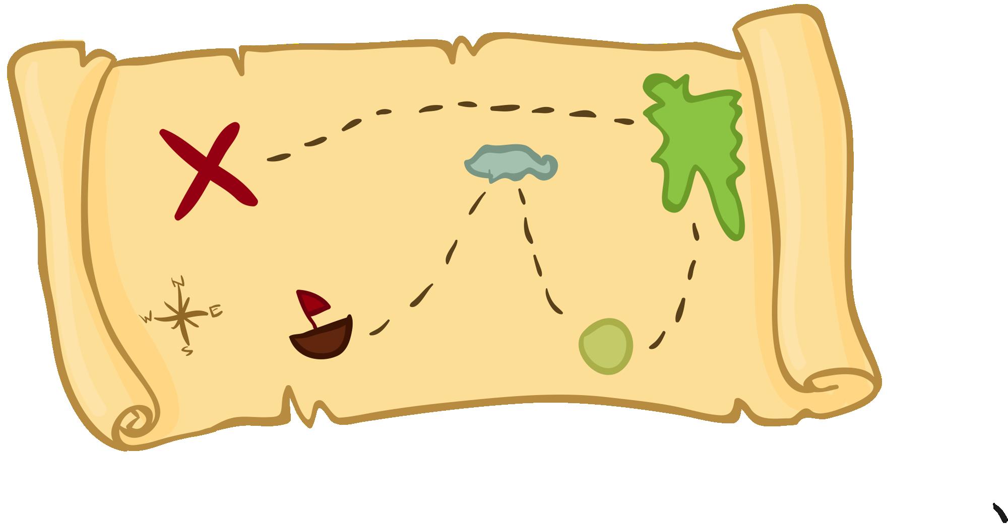 Cartoon clip art transprent. Clipart map treasure hunt