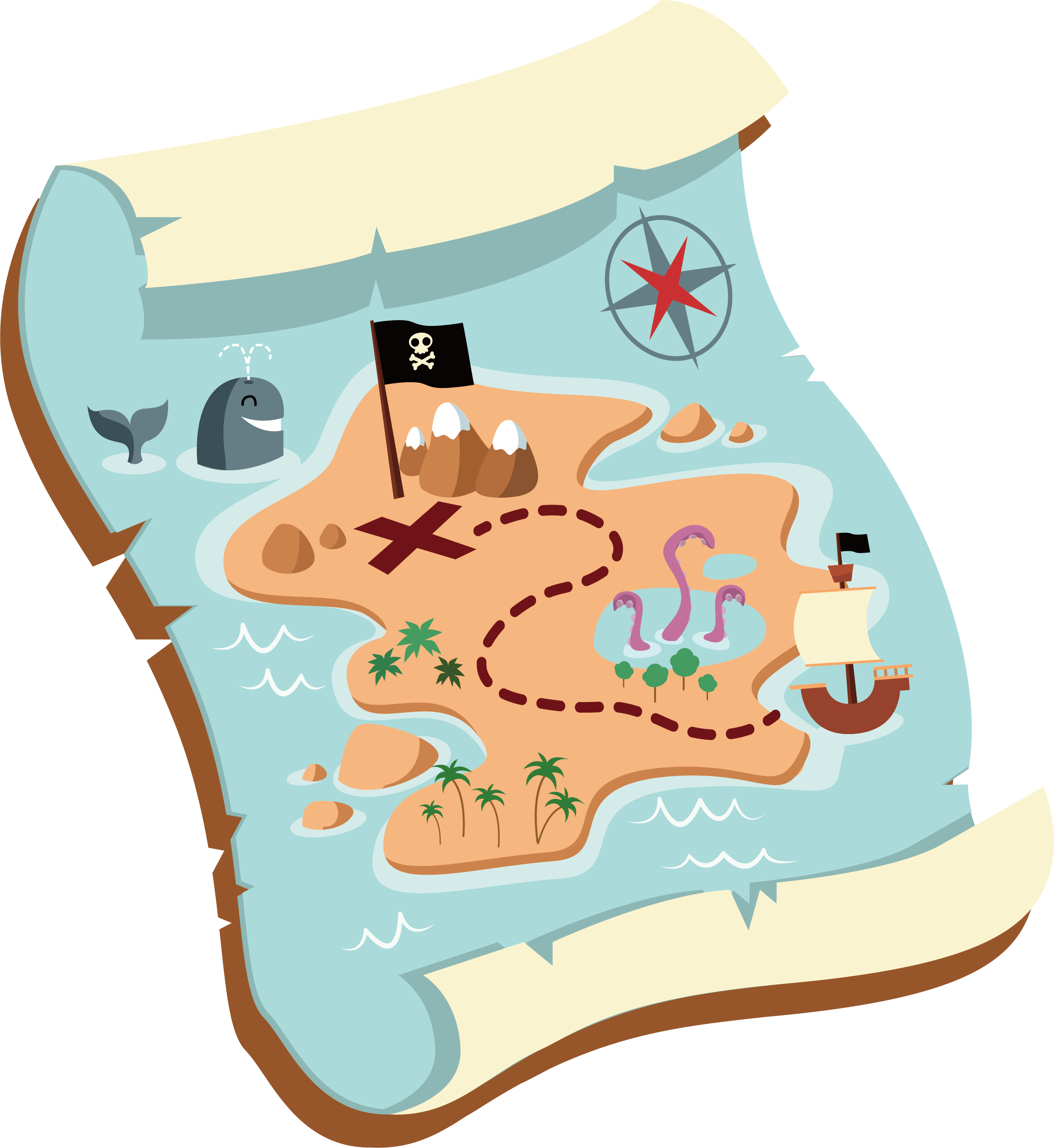 Map clip art old. Maps clipart treasure hunting