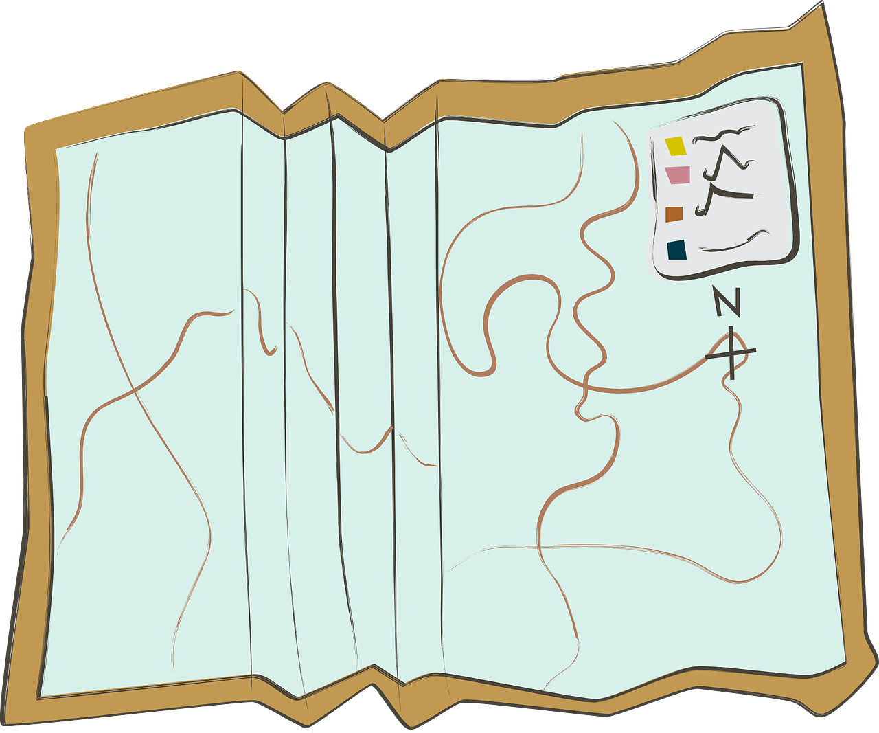 Travel design document global. Clipart map treasure hunt