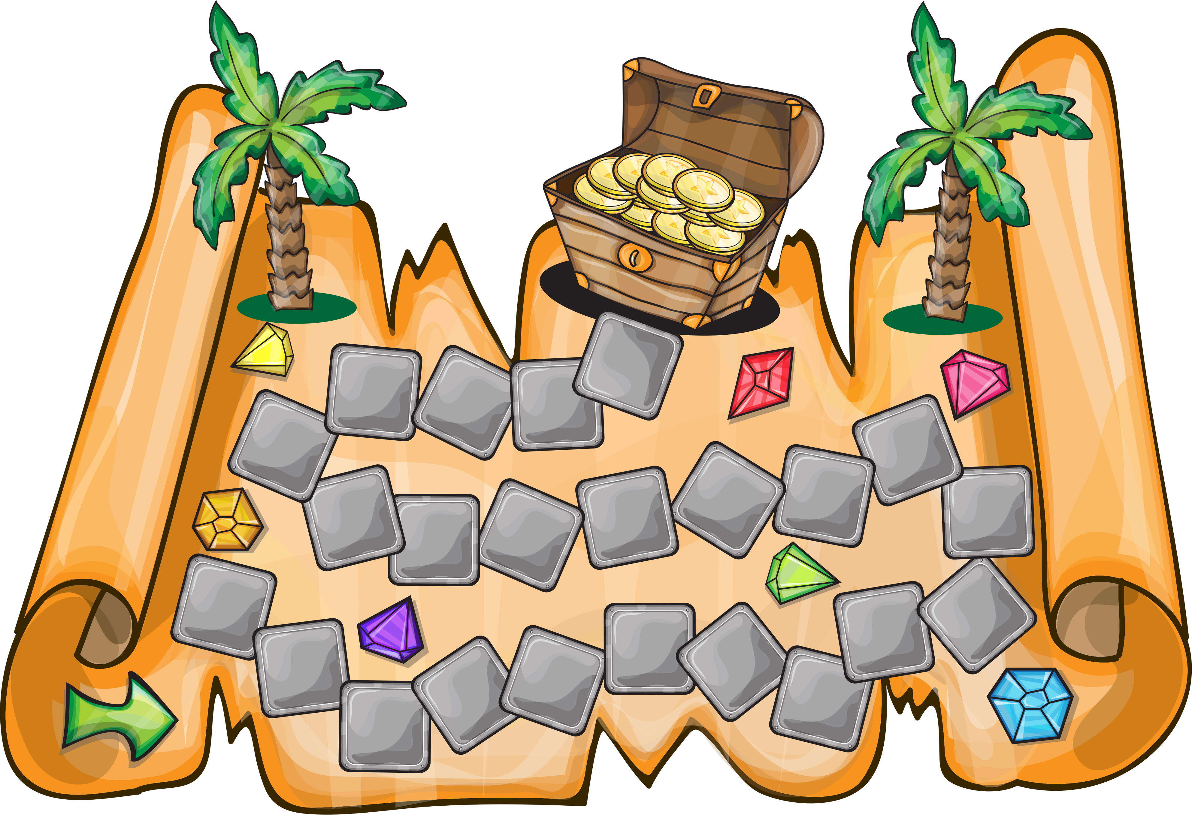 Hunting buried map clip. Treasure clipart burried