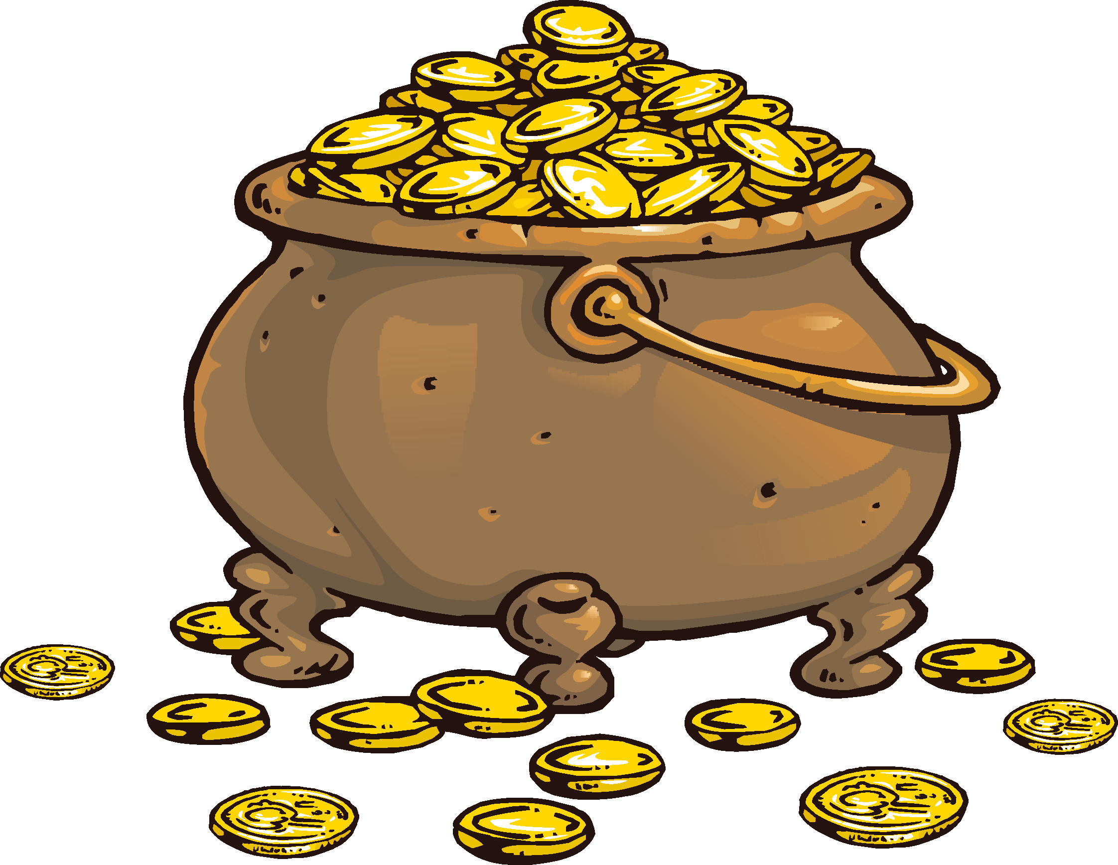 Piracy clip art transprent. Treasure clipart bag gold coin