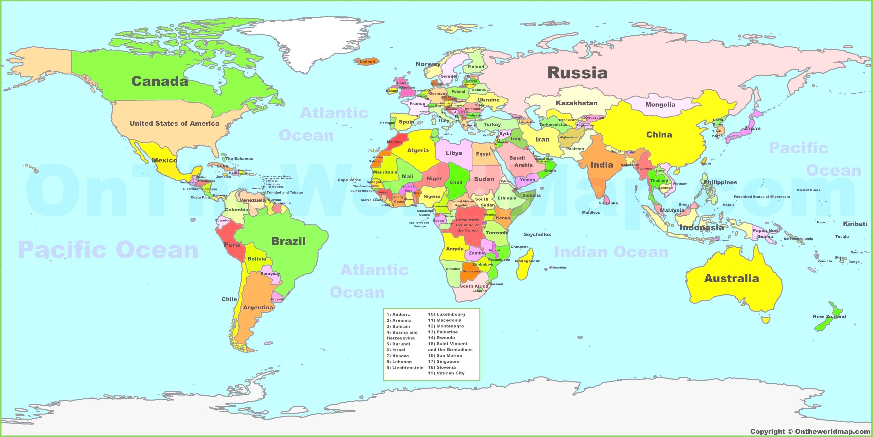 Maps of all countries. Clipart map world atlas
