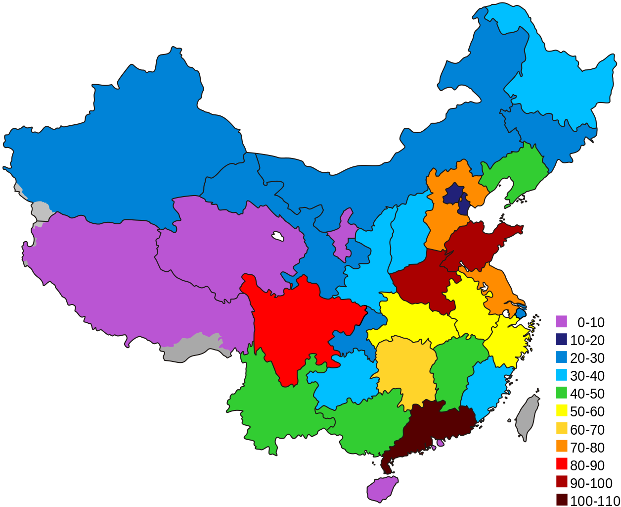 Pr china provinces by. Geography clipart civilization chinese