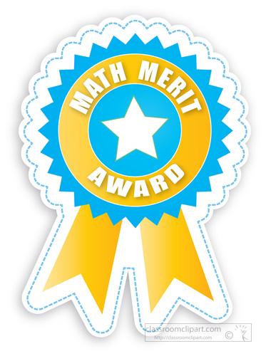 Award . Math clipart awards