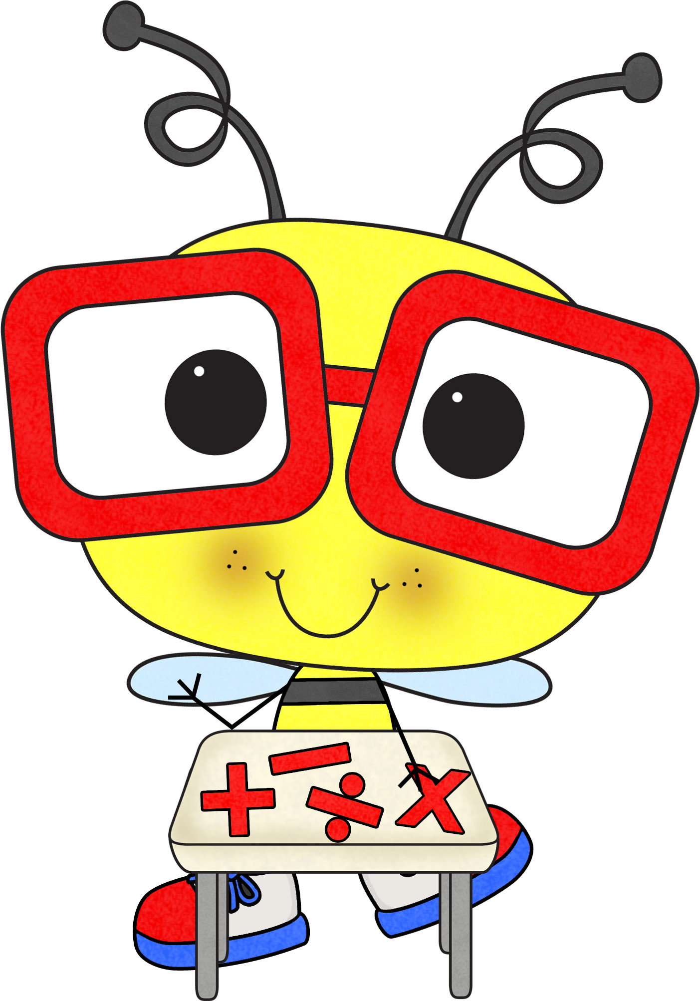 Multiplication clipart mathematic. Math bee