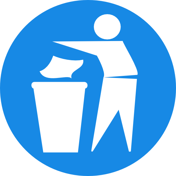 Doctormo put rubbish in. Outline clipart bin
