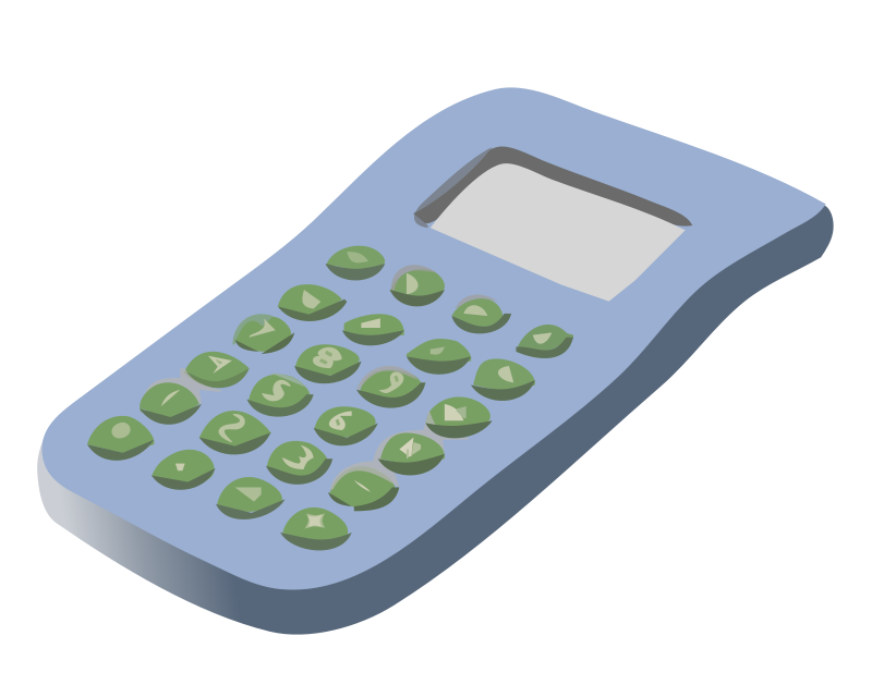 School supplies free education. Pencil clipart calculator