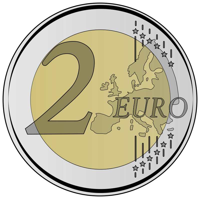 euro coin by. Game clipart indoor recess