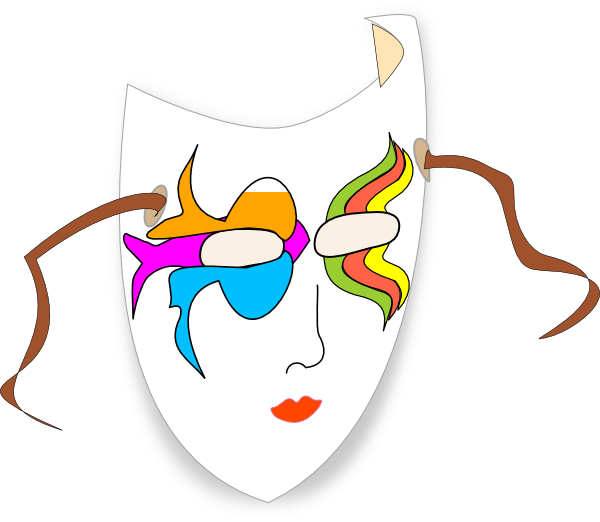 Mask clip art at. Clipart math carnival