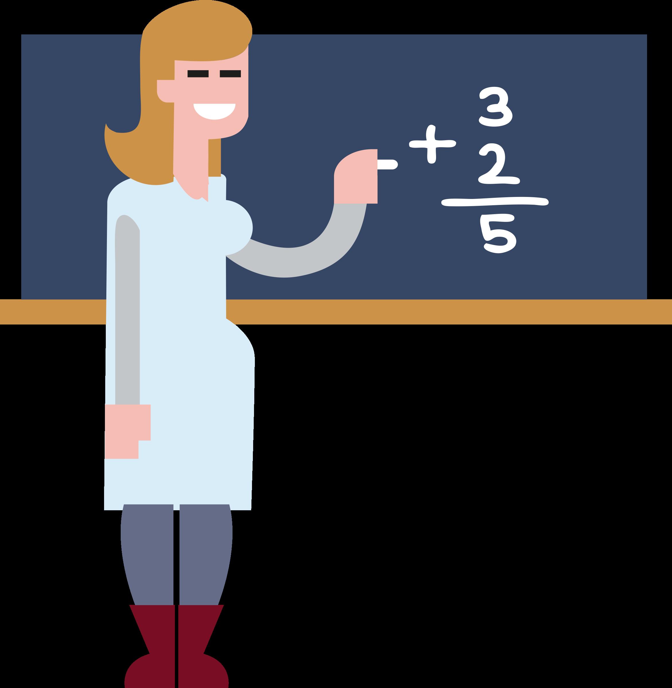 Maths teacher big image. Clipart people math