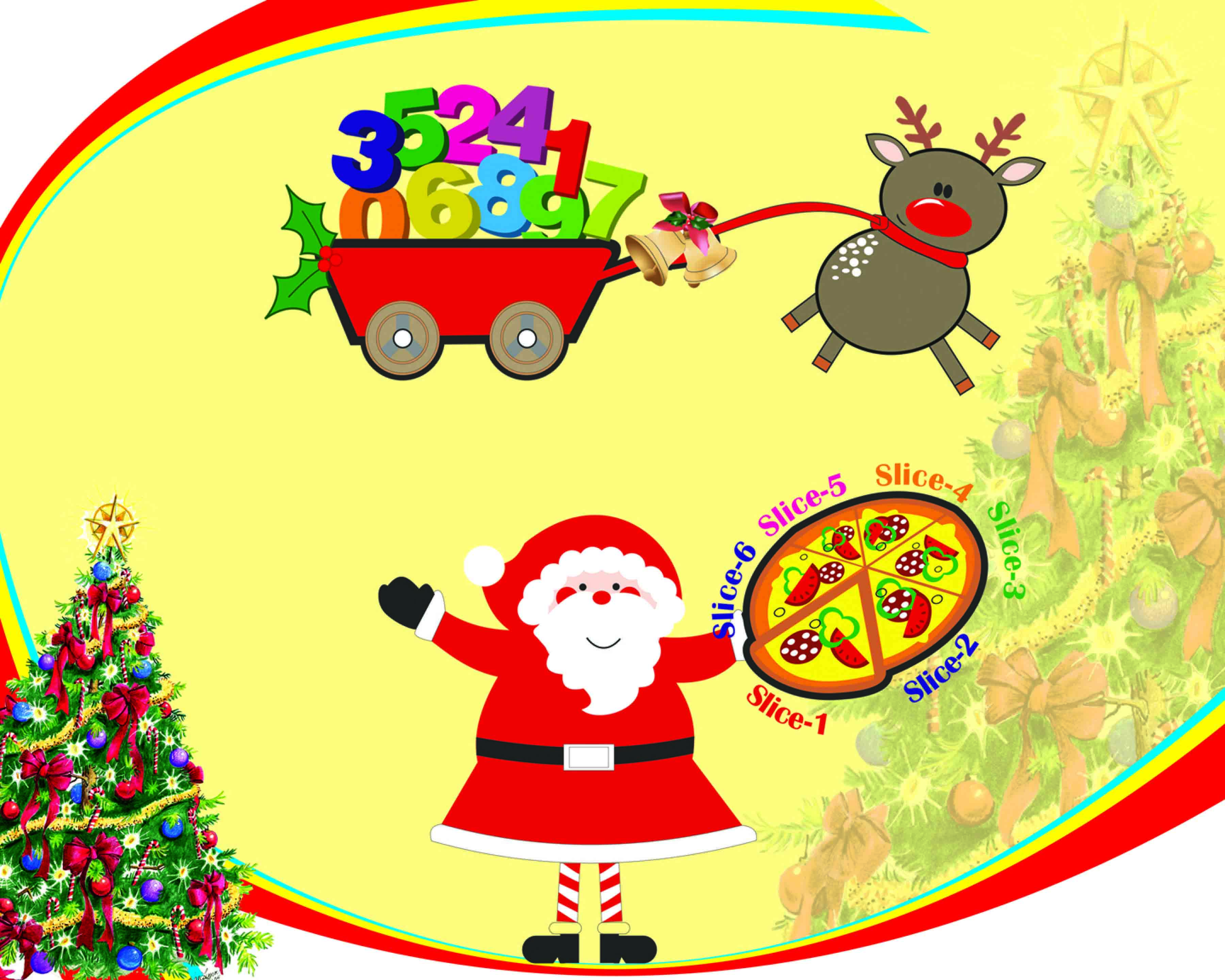 Happy numbers pack math. Number 6 clipart free christmas number